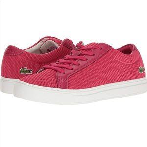 Lacoste  l 12-12  117 2 caw  sneaker size 7.5 pink